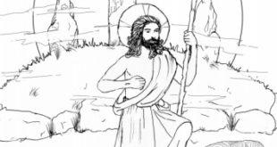 Pour Pâques, «Jésus ressuscité» à colorier par vos enfants
