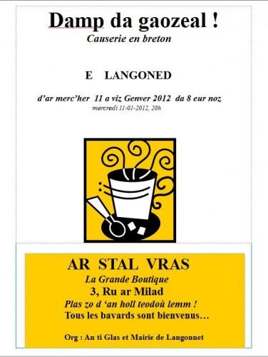 causerie, breton, langonnet