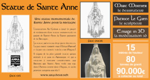 Une statue de Sainte-Anne pour la Bretagne.