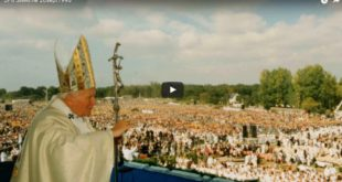 Le 20 septembre 1996, le Pape Jean-Paul II était à Sainte Anne d'Auray