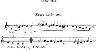 AINSI CHANTAIT-ON DANS NOS PAROISSES : MESSE ROYALE DE DU MONT