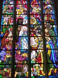 Vitrail de la Nativité - Eglise Notre Dame de Populo à Landudal