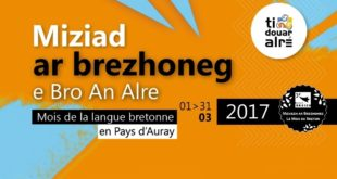 Miziad ar brezhoneg e Bro an Alre, mois du breton en pays d'Auray.