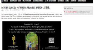 Devenir guide du patrimoine religieux breton cet été…
