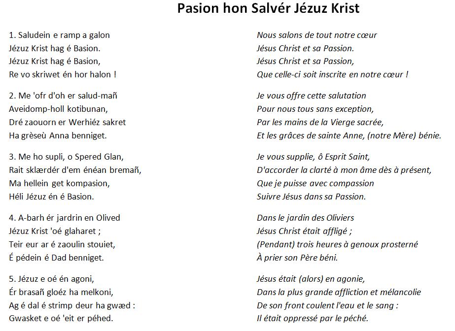 Vendredi saint et passion en pays vannetais
