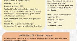 journées du patrimoine - Vallée des saints