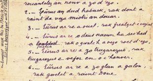 TOUSSAINT : les béatitudes, en breton (manuscrit de l'abbé YV Perrot)