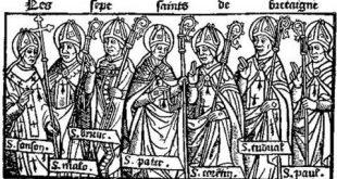 9 janvier : mémoire des 7 saints fondateurs de la Bretagne, et anniversaire de la mort d'Anne de Bretagne