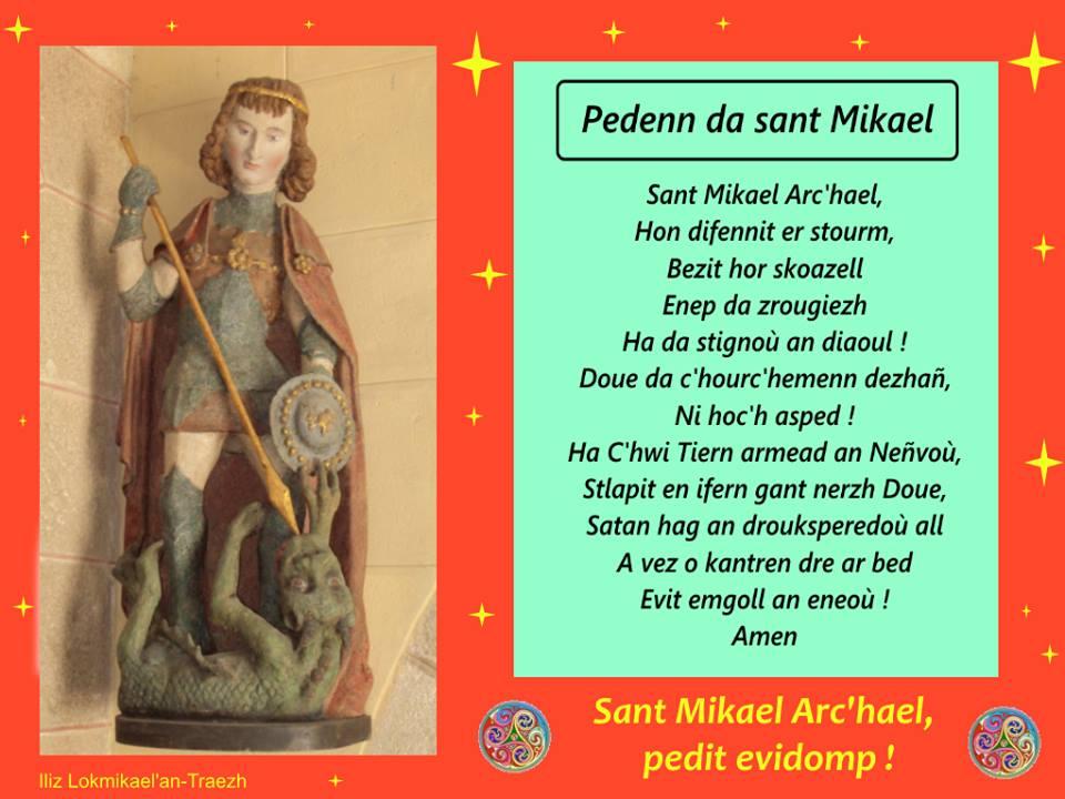 prière en breton à St Michel Archange