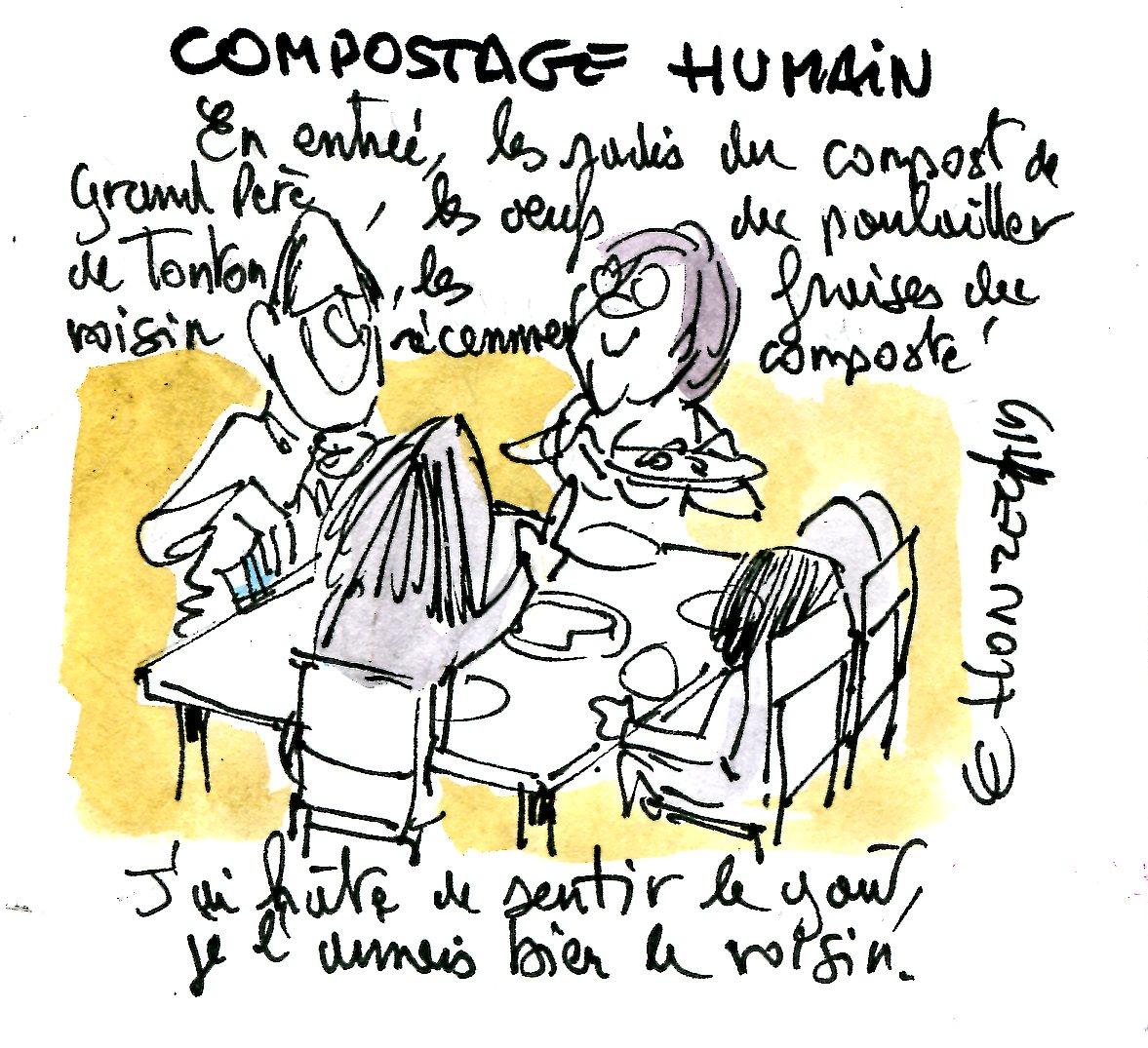 compost humain