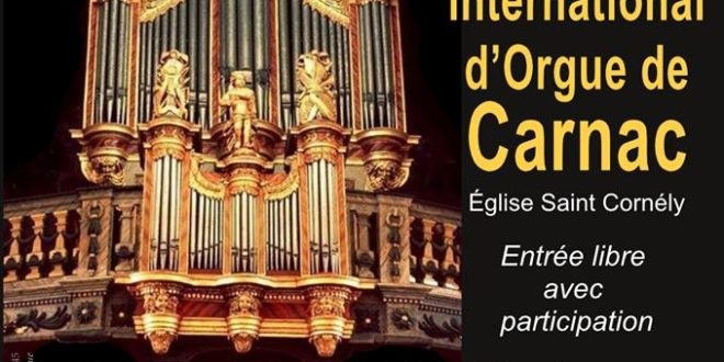 Découvrez le 2ème Festival d'orgue de Carnac