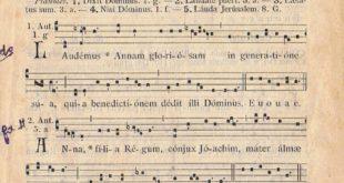 Propre grégorien du Diocèse de Vannes pour la Sainte Anne