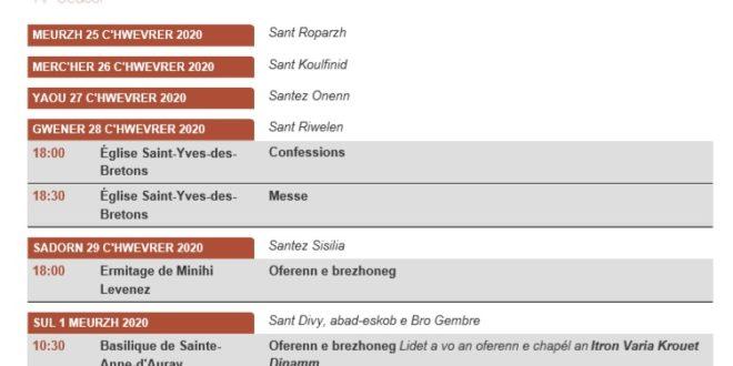Retrouvez les messes en breton ou avec cantiques bretons via notre newsletter.