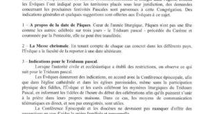 [CORONAVIRUS] Le Saint-Siège publie un décret pour les dispositions relatives au Triduum Pascal