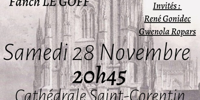 Une tournée de Noël de légende pour le trio Kervarec / Dudognon / Le Goff