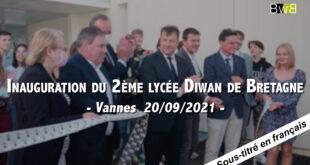 [VANNES] Inauguration du lycée Diwan de Vannes