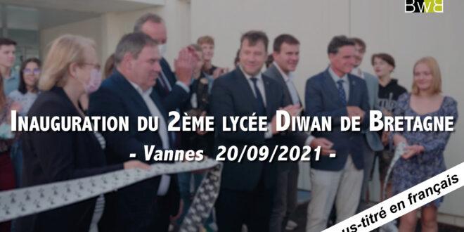 Inauguration du deuxième lycée Diwan de Bretagne à Vannes.